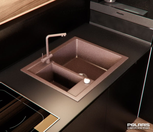 Кухонная гранитная мойка Blanco 60