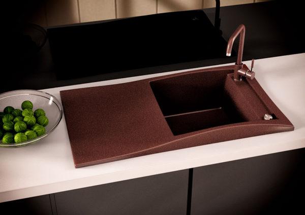 Кухонная мойка гранитная коричневый Sirena 80