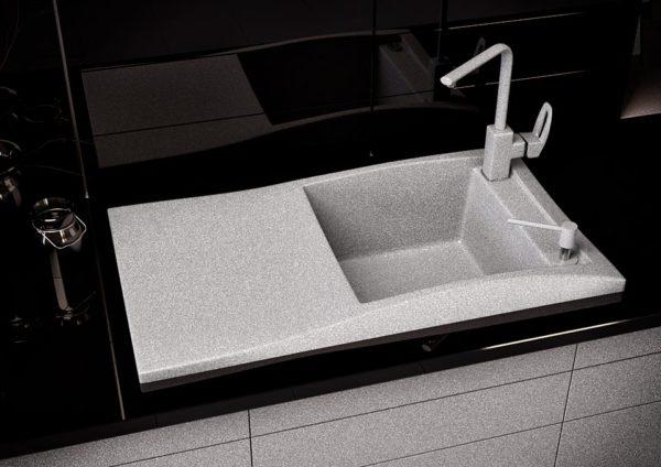 Кухонная мойка гранитная серый Sirena 80
