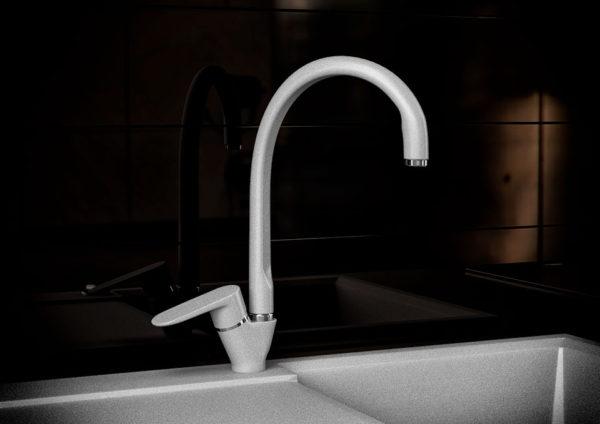 Кухонный смесител гранитный серый KAHER AIVON