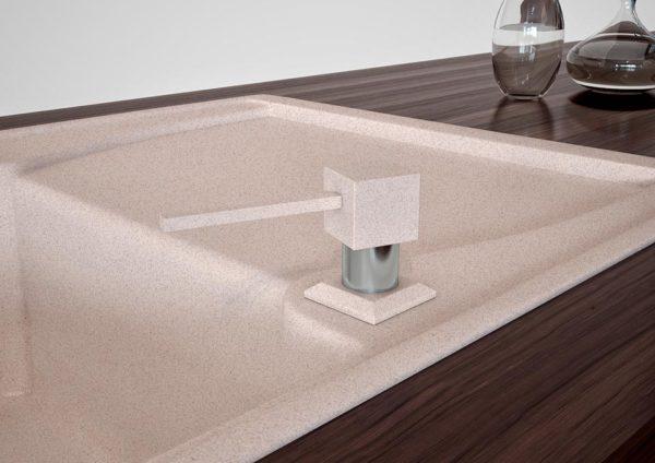 Дозатор для кухонной мойки гранитный KAHER LANDO, цвет авена
