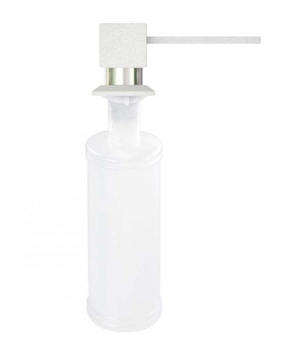 Дозатор для кухонной мойки гранитный KAHER LANDO, цвет белый
