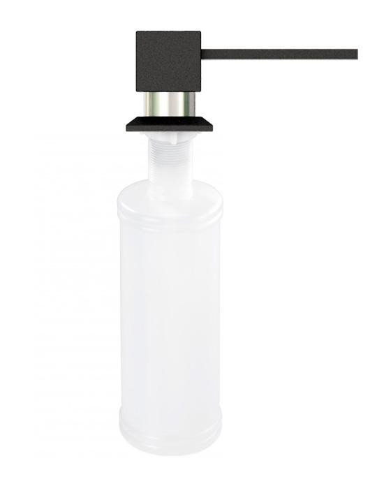Дозатор для кухонной мойки гранитный KAHER LANDO, цвет черный