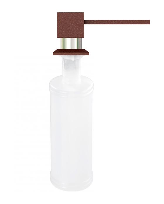 Дозатор для кухонной мойки гранитный KAHER LANDO, цвет коричневый