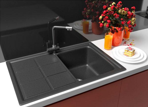Кухонная Мойка Гранитная Polaris Bavaria черная