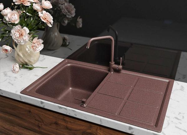 Кухонная Мойка Гранитная Polaris Bavaria коричневая