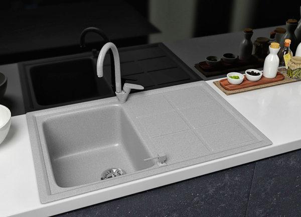 Кухонная Мойка Гранитная Polaris Bavaria серая